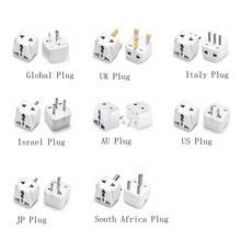 цена на High Quality Practical Universal EU UK AU to US USA AC Power Adapter Travel Plug Converter 2 Flat Pin