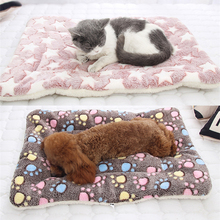 Pet Mats Thicken Soft Cat Bed for Dog Mat Winter Cat Mat Blanket Pet Products Dog Bed For Small Large Dogs цены