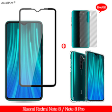 купить 3-in-1 Front + Back Glass Film Redmi Note 8 Tempered Glass Xiaomi Redmi Note 8 Pro Screen Protector redmi note 8 pro Airbag Case онлайн