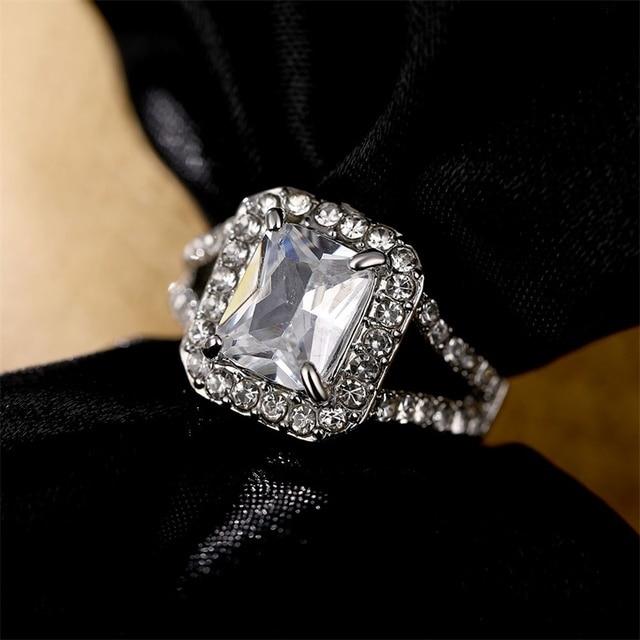 Square AAA Australian Crystal Rings 2