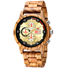 Casual Sport Watches for Men Luxury Wooden Watch Man Chronog