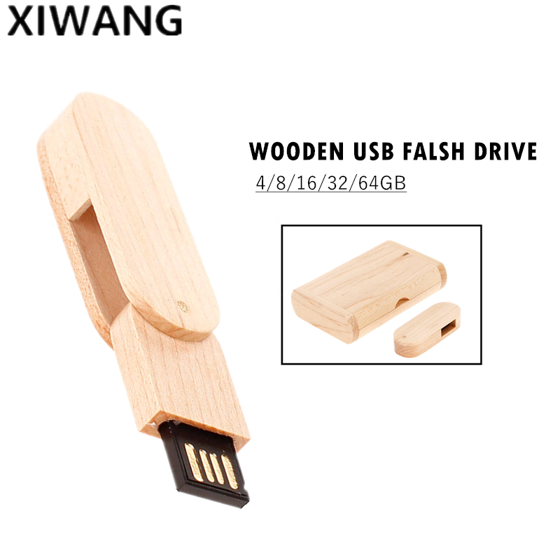 Image 4 - USB flash drive Mini rotary wood Pendrive usb 2.0 4GB 8GB 16GB pen drive 32GB 64GB 128gb high speed usb memory stick custom logo-in USB Flash Drives from Computer & Office