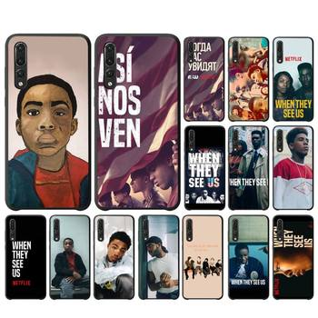 FHNBLJ When They See Us Phone Case For Huawei P10 20 30 40 Lite P20Pro P30Pro P40Pro Psmart image