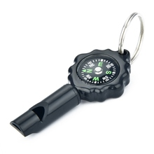 Hot Multifunctional Whistle With Compass Key Ring EDC Sports Emergency Survival