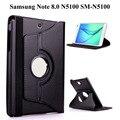 360 градусов вращающийся PU кожаный умный чехол для Samsung Galaxy Note 8,0 GT-N5100 GT-N5110 8,0 дюймов чехол для планшета + пленка + ручка