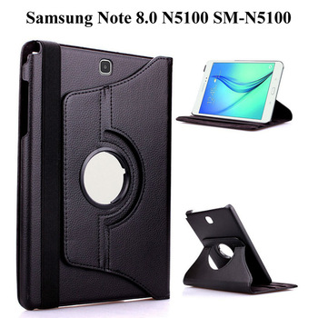 360 Degree Rotating PU Leather Smart Case For Samsung Galaxy Note 8.0 GT-N5100 GT-N5110 inch Tablet Case+Film+Pen - discount item  29% OFF Tablet Accessories