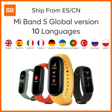Xiaomi – Bracelet Original Mi Band 5 Version globale, 9 langues, écran intelligent Miband, fréquence cardiaque, Fitness, Sport, Bluetooth