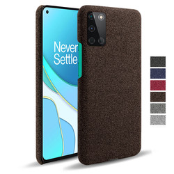 For OnePlus 8T 8 7T 7 Pro Nord N100 N10 5G Coque Fabric+PC Antiskid Case Cloth Texture Fit Cover For One Plus 5 6 T 1+8t Funda
