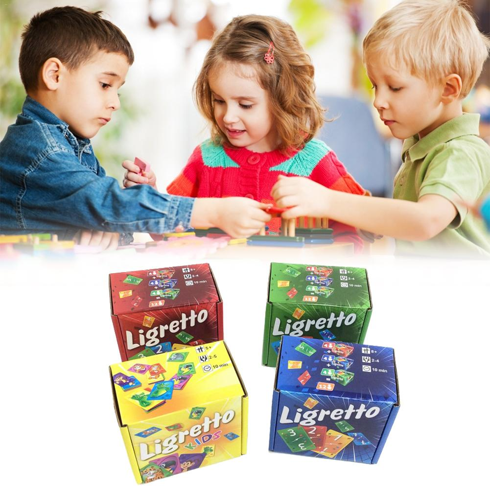 1pcs Random Color Waterproof Coated Paper Kids Puzzle Board Games Set Adults Children Learning Cooperative Games Cards For Kids