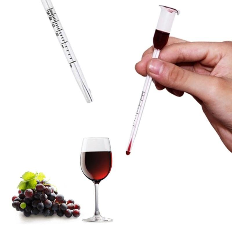 Tester Vintage Measuring Bottle Set Tools Alcoholmeter Alcohol Meter Wine Concentration Meter 0-50/0-100 Hydrometer 13cm With The Best Service