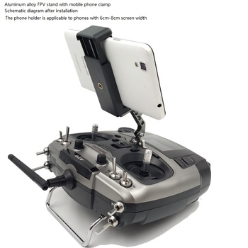 FPV Monitor Mobile Phone Clip CNC Aluminum Alloy Stand Is Suitable for The Remote Control Such As Ledi Sprite image