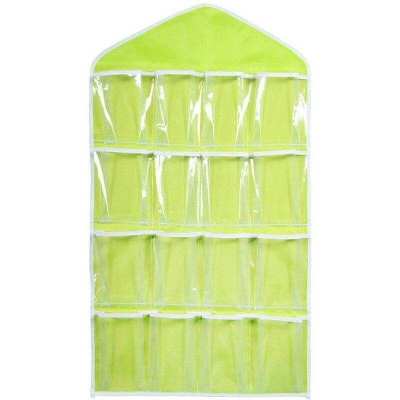 Hanging Storage Box 16 Pockets Clear Home Hanging Organizer Socks Bra Underwear Rack Home Organization and Storage