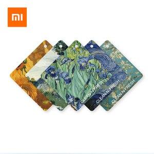 Image 1 - Xiaomi נקי n טרי ואן גוך ציור ארומתרפיה ניחוח טבליות מלתחת מכונית מטהר אוויר קישוט מוצק ריחני חתיכה