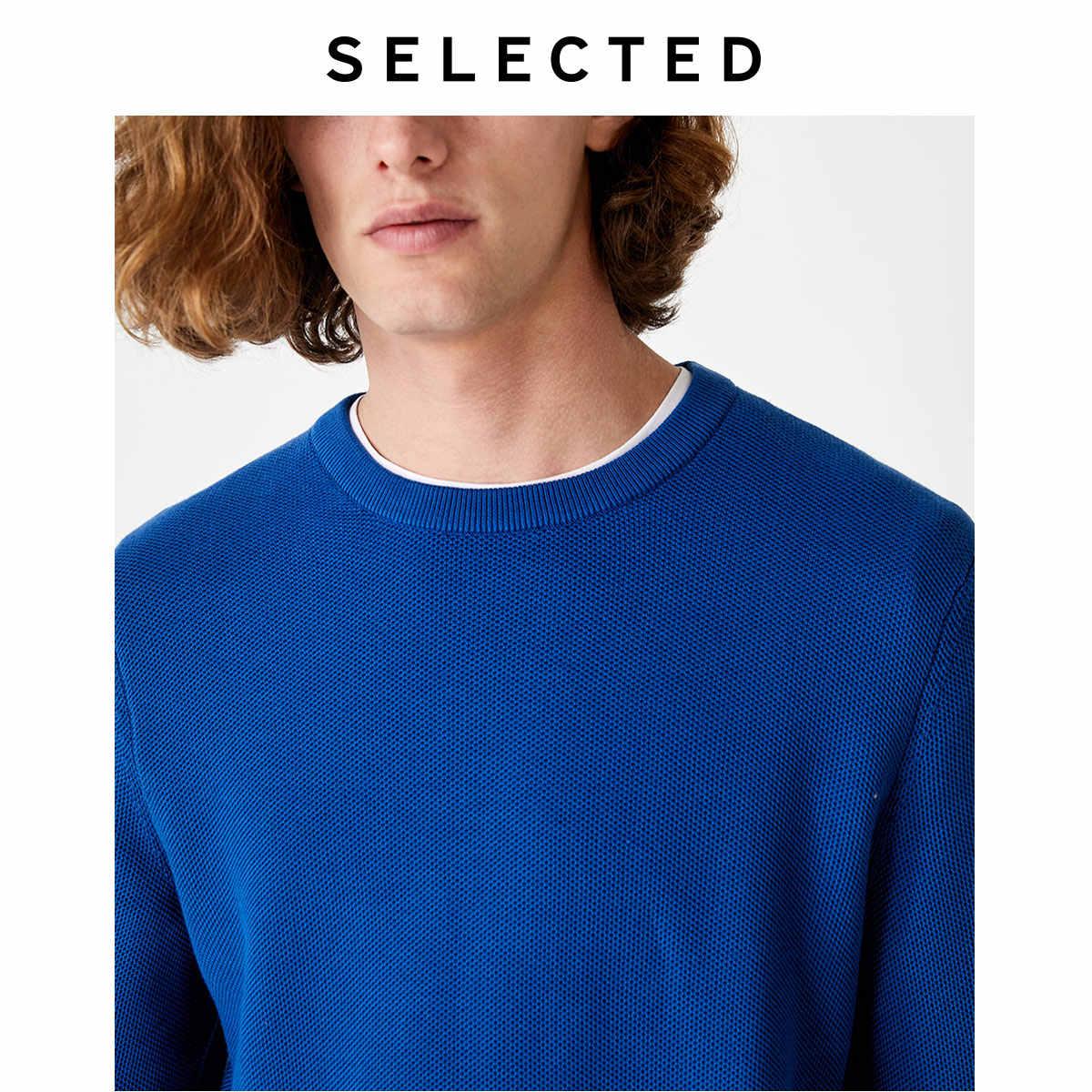 SELECTED 가을 Pullovers 옷-긴팔 남성 라운드 칼라 레저 니트 스웨터 셔츠 S   419324516