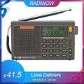 Radiwow SIHUADON R-108 FM стерео цифровой портативный радио звук Будильник функция дисплей часы температура динамик как родитель подарок
