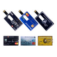 Usb Flash Drive Master HSBC Credit Card Usb Stick 512GB  256GB High Speed 2.0 Pen Drive 128GB Pendrive U Disk Flash Memory Card