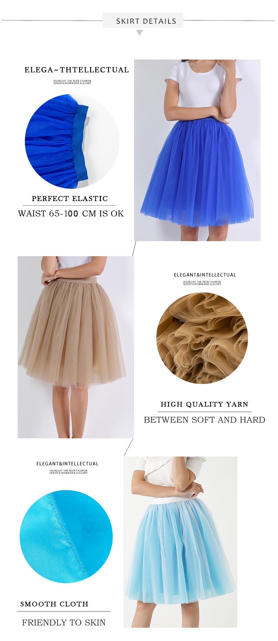 Women's Fashion Puffy Tutu Skirts