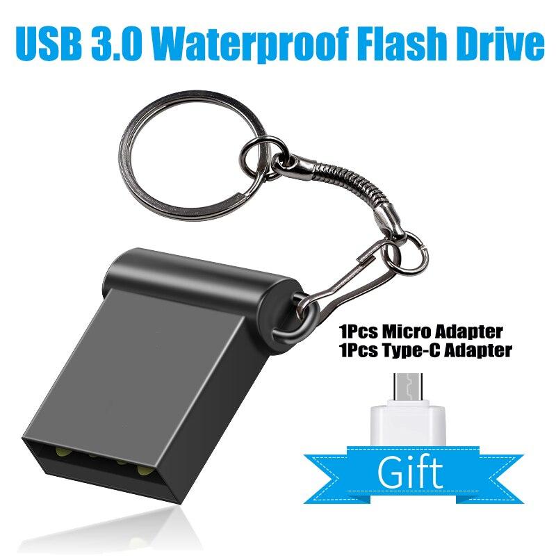 USB 3.0 Super Mini USB Flash Drive 128GB GB GB 16 32 64GB OTG Tipo C Flash Drive portátil 256GB Memory Stick Pendrive Flash Disk