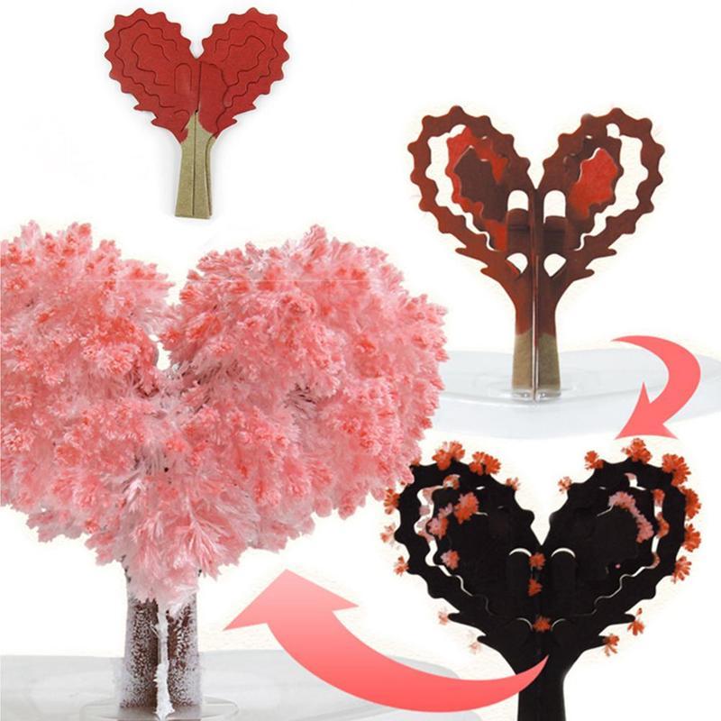 Children DIY Crystal Magic Love Paper Blossom Tree Hands-on Ability Development Art Crafts Creativity Handicraft Children Toy