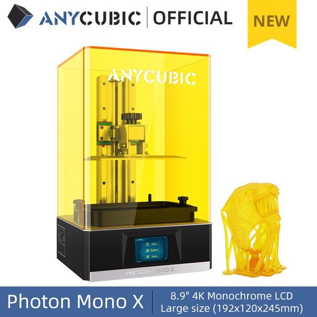 ANYCUBIC Photon Mono X 3D Printer 8.9 inch 4K Monochrome LCD UV Resin Printers 3D Printing High Speed APP Control SLA 3D Printer 1