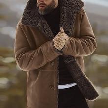 Men's Jacket Solid Coat Winter Thicken Warm Jacket Vintage O