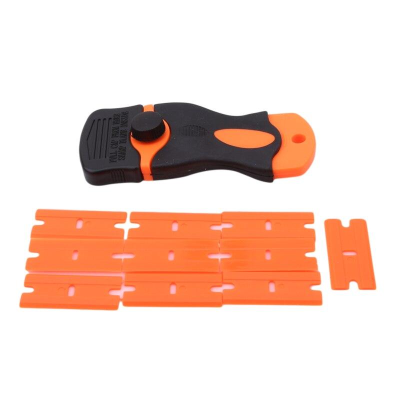 Carro rodo de vinil filme adesivos raspador cobre ferramenta raspador plástico & lâminas aço faca tingimento ferramentas