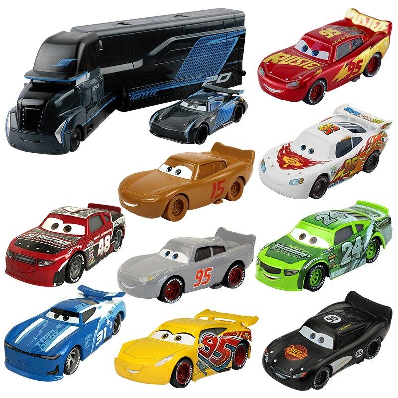 Disney Pixar Cars 3 Jackson Storm Mack Uncle Truck Cruz Ramirez 155 литье под давлением автомобиля из металлического сплава игрушечные модели машин для мальчиков