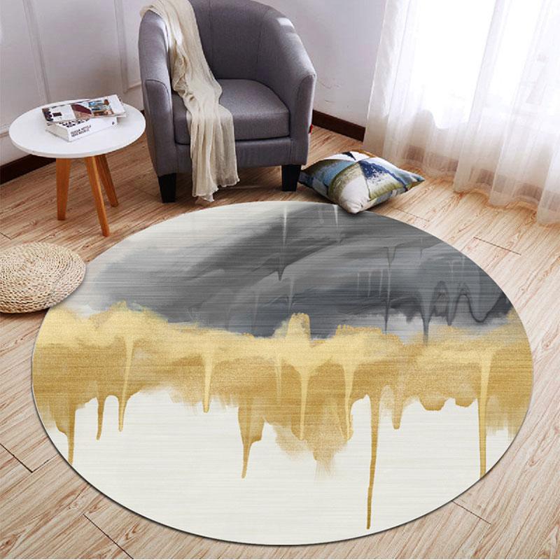 Modern Light Luxury Round Carpet Living, Large Round Sofa Chair