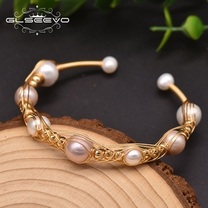 Glseevo Natural Baroque Pearl Charm Wrap Bracelets Bangles For Women Engagement Handmade Classic Luxury Fine Jewellery GB0935