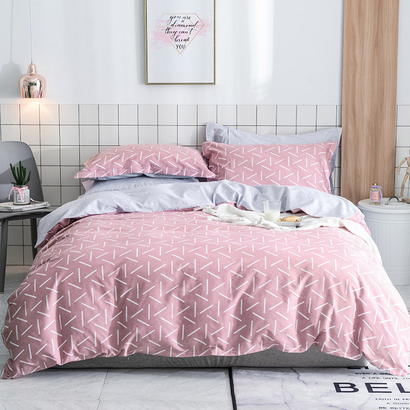 Yimeis Bedding Set Cotton Simple Bedding And Bed Sets Cotton Cute Super King Bed Comforter BE45346