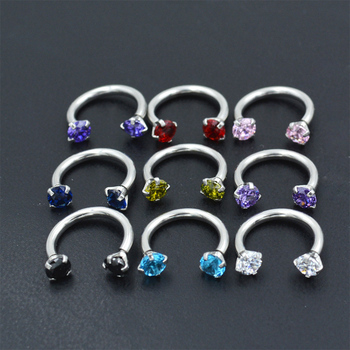 Fashion 1pc Lovely Piercing Septo Nose Lip Ear Septum Cartilage Captive Hoop Ring Jewelry image