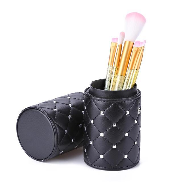 Fashion Makeup Brushes Holder Case PU Leather Travel Pen Holder Storage Cosmetic Brush Bag Brushes Organizer Make Up Tools 3