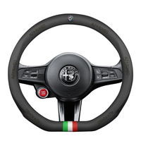 38cm Genuine Leather Car steering wheel cover Sport Racing for alfa romeo 159 147 156 giulietta 147 159 mito stelvio Giulia