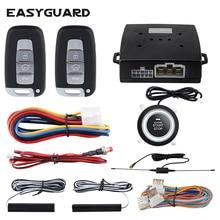 EASYGUARD système dalarme de voiture pke, démarrage sans clé, verrouillage central de voiture bouton darrêt, alarme automatique, moteur à distance