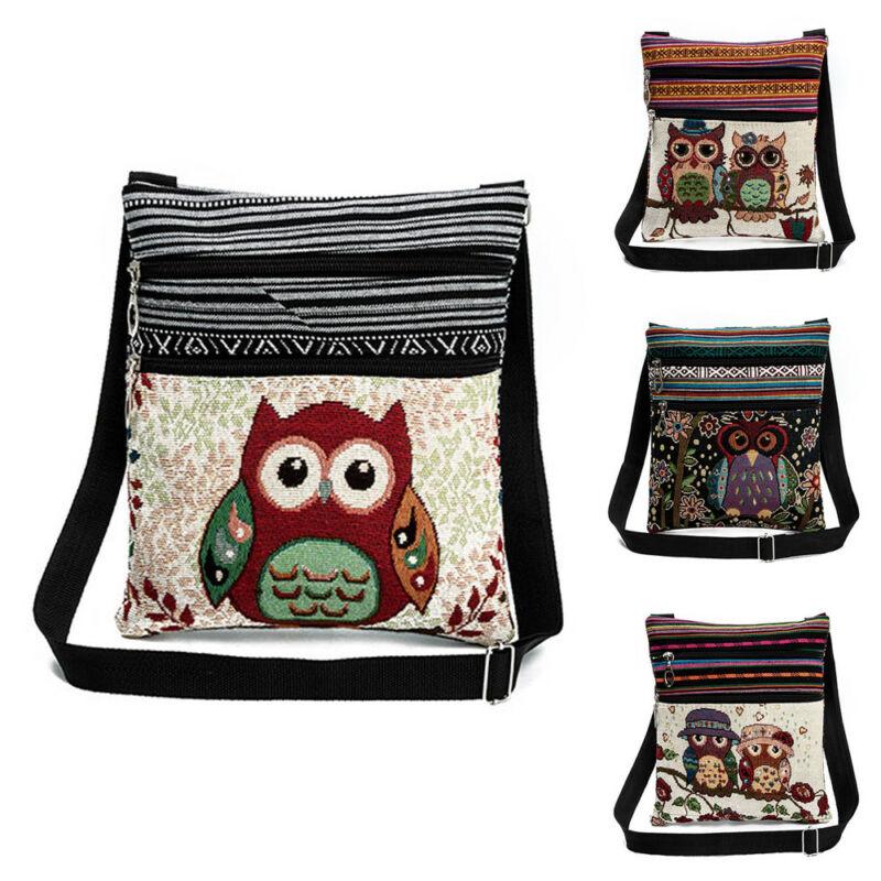2020 Cute Women's Glitter Shoulder Bags Purse Owl Prints Handbag Tote Ladies Cross Body Messenger Fashion Satchel Bag Hot Sale