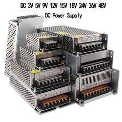 Светодиодный трансформатор для освещения, 3, 5, 9, 12, 15, 18, 24 В, AC, DC, импульсный источник питания 1A-60A, светодиодный адаптер для зарядного устройс...