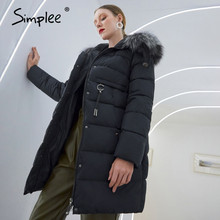 Jacket Parka Women Coat Winter Fur-Collar Female Warm Elegant Fashion Windproof Casual