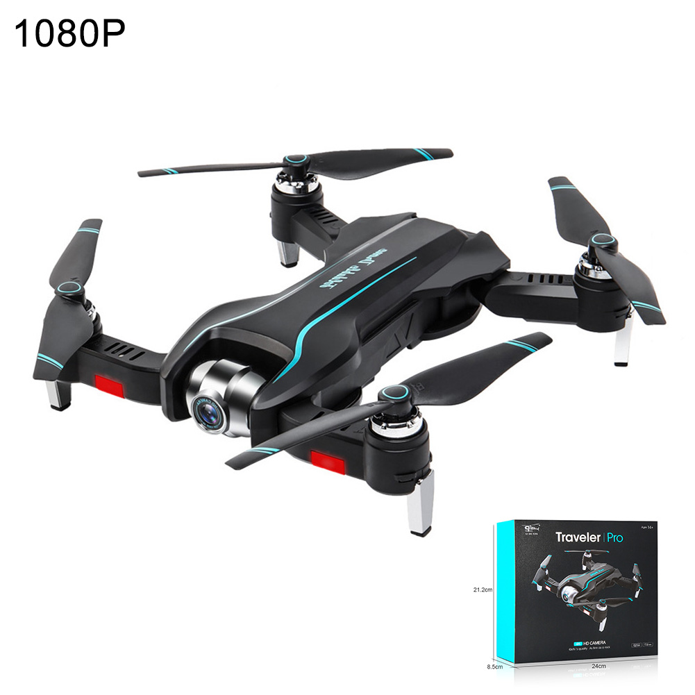 S17 Black FPV RC Quadcopter Portable Drone Remote Toys Rechargeable Real Time Kids Gift Helicopter Dual Cameras Foldable WIFI HD