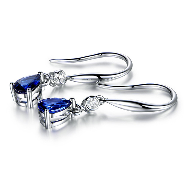 Bague Ringen Silver 925  Earrings Sapphire Siver  4