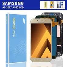 100% тест a520f ЖК-дисплей для Samsung Galaxy A5 2017 A520 SM-520F A520M A520 ЖК-дисплей сенсорный экран дигитайзер сборка