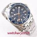 Relogio Masculino Herren Uhren Top Marke Blau Zifferblatt GMT Sapphire 41mm Luxus Männer Military Stahl strap Armbanduhr Automatische Uhr