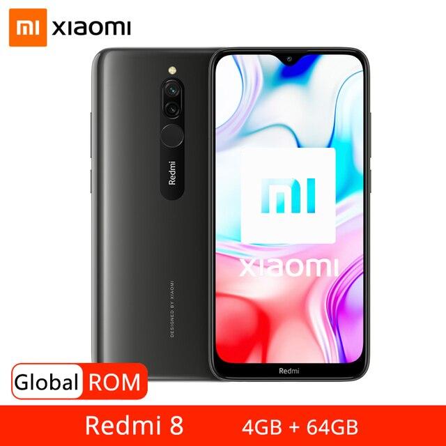 Global ROM Xiaomi Redmi 8 4GB 64GB Smartphone Snapdragon 439 Octa Core 5000mAh 18W ricarica rapida 12MP telefono cellulare con doppia fotocamera