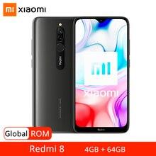 Rom global xiaomi redmi 8 4gb 64gb smartphone snapdragon 439 octa núcleo 5000mah 18w carga rápida 12mp câmera dupla telefone móvel