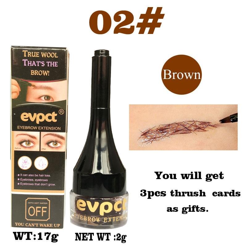 Black Brown Eyebrow Fiber Hair 3D Natural Tatto Tint Brow Extension WaterproofEyebrow Cream Enhancers Gel Brown Liquid TSLM1(China)