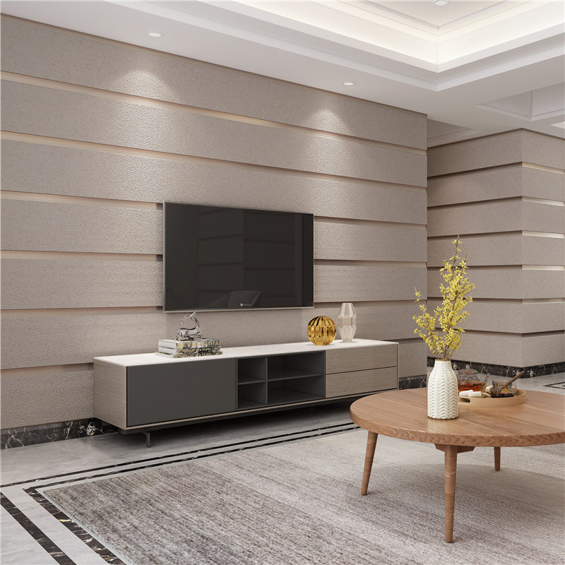 Minimalist Modern Nonwoven Fabric Suede Wallpaper Bedroom Living Room Television Background Wall Horizontal And Vertical Wide 3D