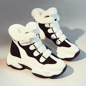 Image 2 - Swyivy Mùa Đông Dày Ấm Sneakers Nữ Nền Tảng Căn Hộ Sang Trọng Ngắn Lông Thường Tăng Chun Giày Móc Thắt Lưng Khóa Đế Bằng