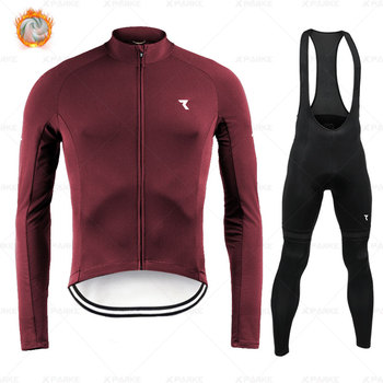 Ryzoning-Conjunto de ropa de ciclismo de manga larga para hombre, camiseta cálida...