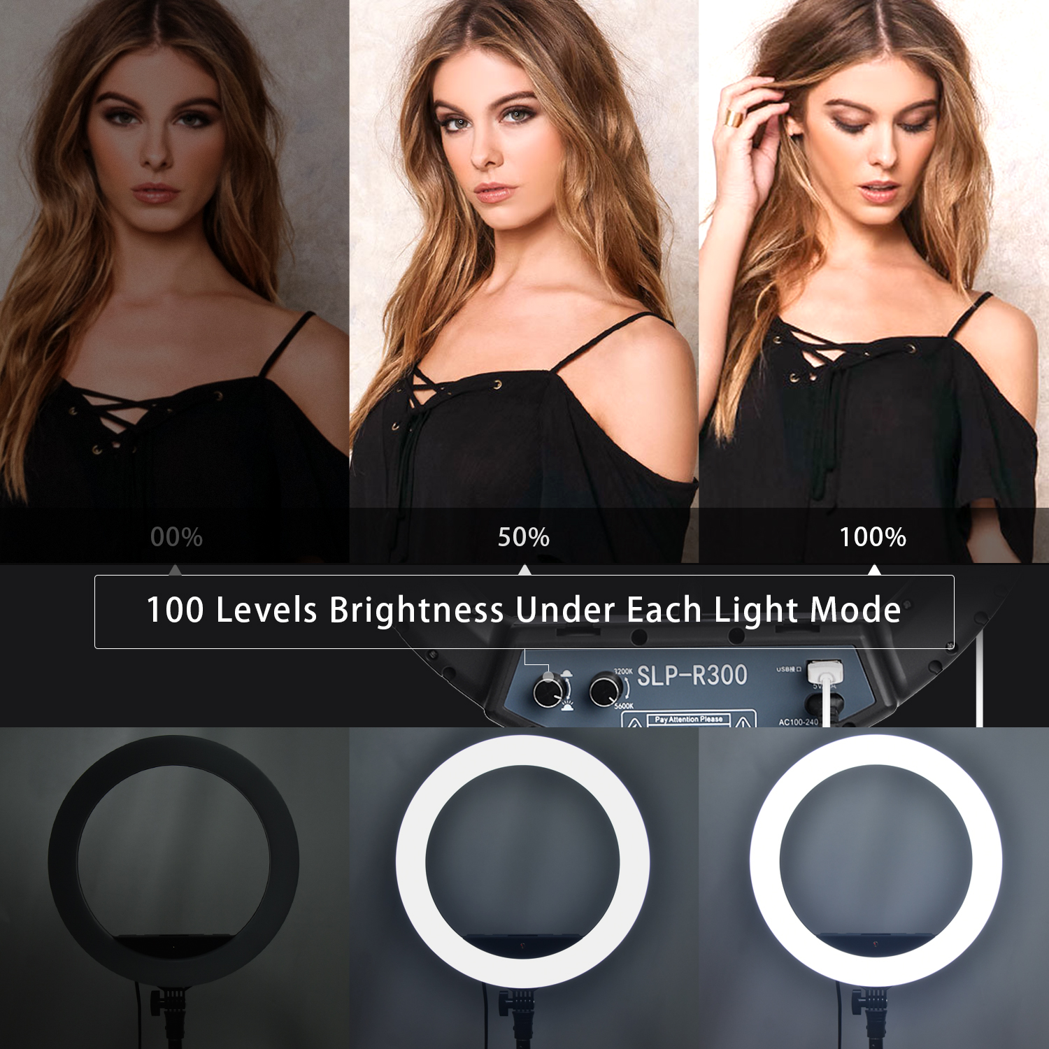 H28a1ab7c5d68410aaf078af57b9022a6S fosoto LED Ring Light Selfie Photo Photography Lighting Ringlight lamp With Tripod Stand For Photo Studio Makeup Video Live Show