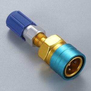 Image 5 - R12 ~ R134a 어댑터 로우 사이드 R1234yf 퀵 커플러 블루 로우 사이드 R 134a 서비스 포트 캡
