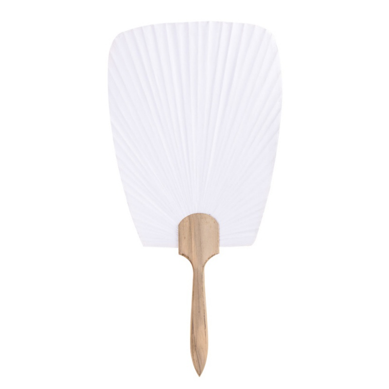 DIY Pure White Double-sided Blank Paper  Hand-painted Fan Pure White Bamboo Handle White Calligraphy Painting Fan